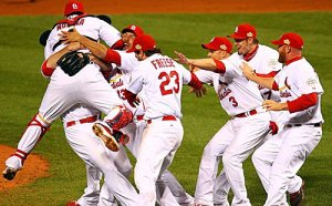 cardinals win world series for 2nd time in 5 years